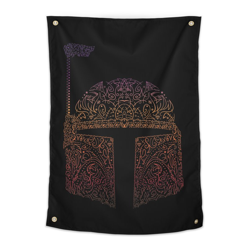 Bobba Neon Fett Home Tapestry by darkchoocoolat's Artist Shop