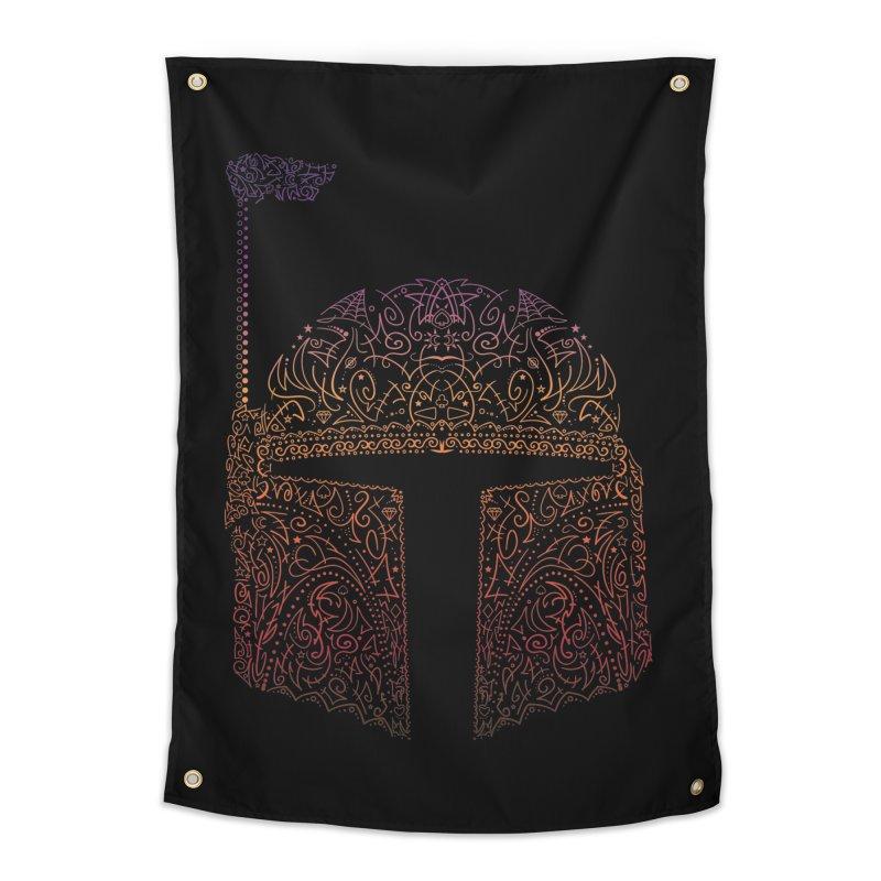 Bobba Neon Fett Home Tapestry by darkchoocoolat's Artist Shop