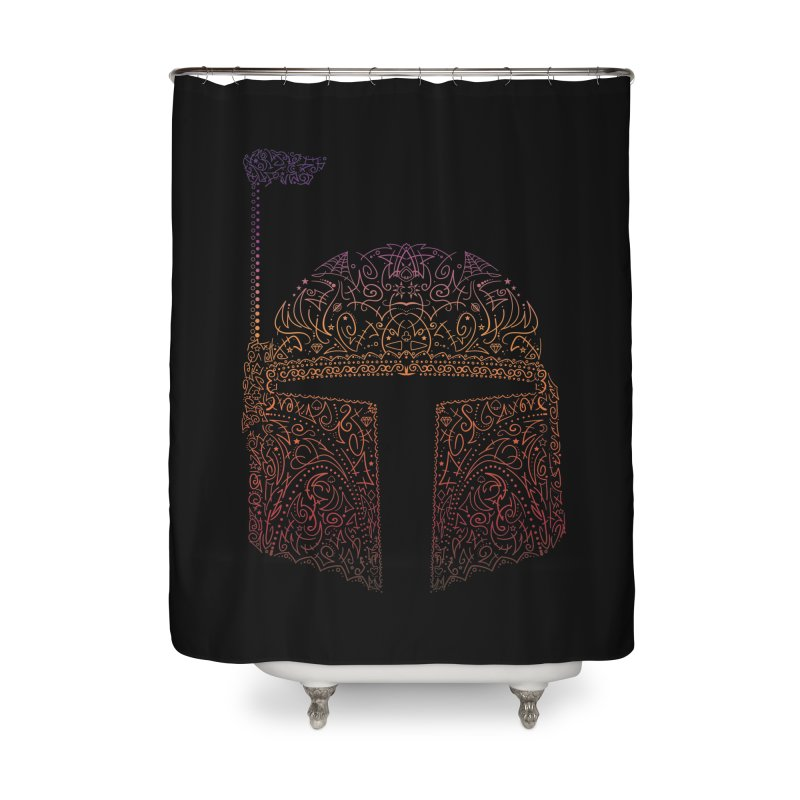 Bobba Neon Fett Home Shower Curtain by darkchoocoolat's Artist Shop
