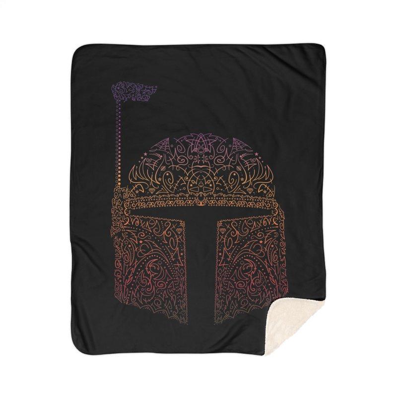 Bobba Neon Fett Home Sherpa Blanket Blanket by darkchoocoolat's Artist Shop