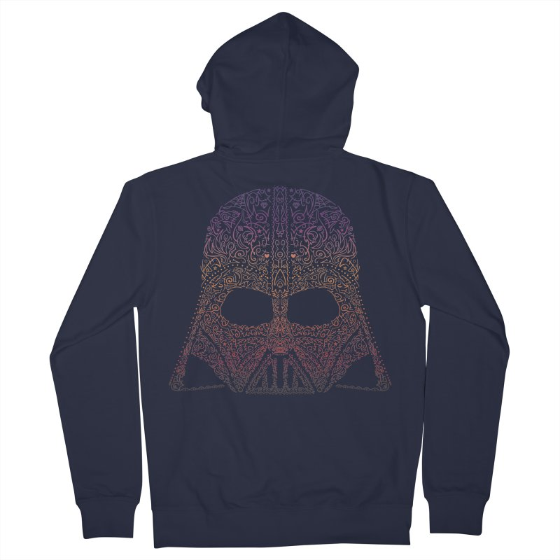 DarthNeonVader Men's Zip-Up Hoody by darkchoocoolat's Artist Shop