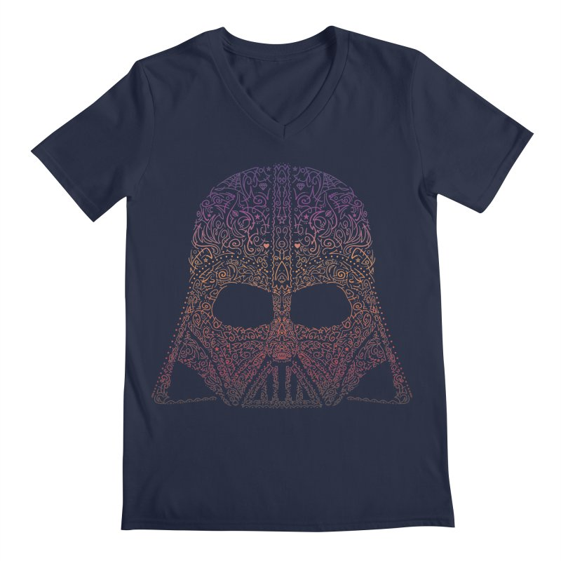DarthNeonVader Men's V-Neck by darkchoocoolat's Artist Shop