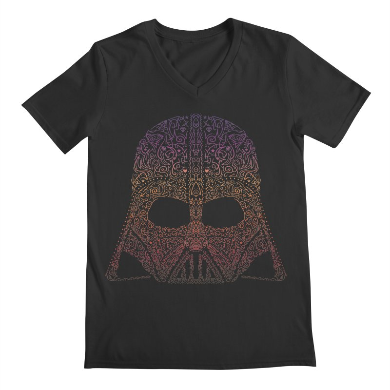 DarthNeonVader Men's Regular V-Neck by darkchoocoolat's Artist Shop
