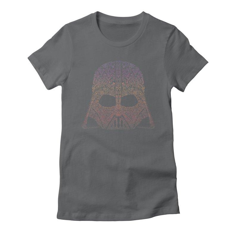 DarthNeonVader Women's Fitted T-Shirt by darkchoocoolat's Artist Shop