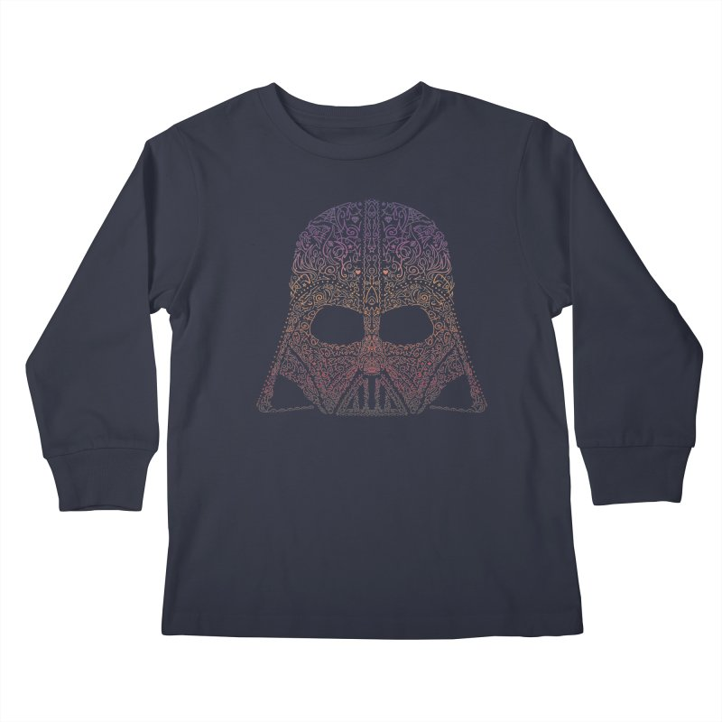 DarthNeonVader Kids Longsleeve T-Shirt by darkchoocoolat's Artist Shop