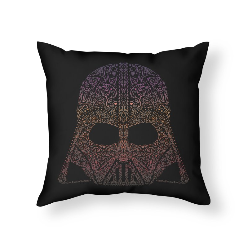 DarthNeonVader Home Throw Pillow by darkchoocoolat's Artist Shop