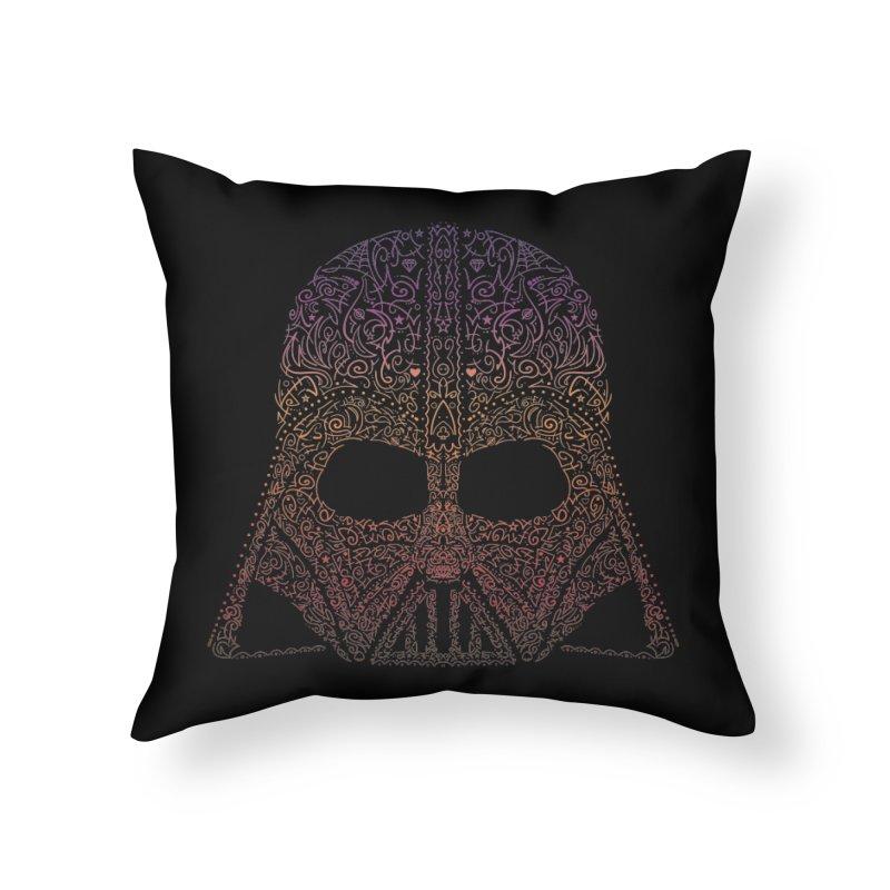DarthNeonVader Home Throw Pillow by darkchoocoolat's Artist Shop