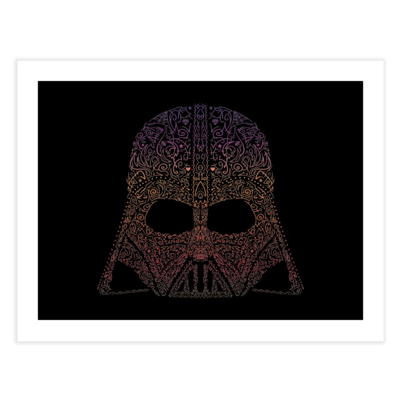 DarthNeonVader Home Fine Art Print by darkchoocoolat's Artist Shop