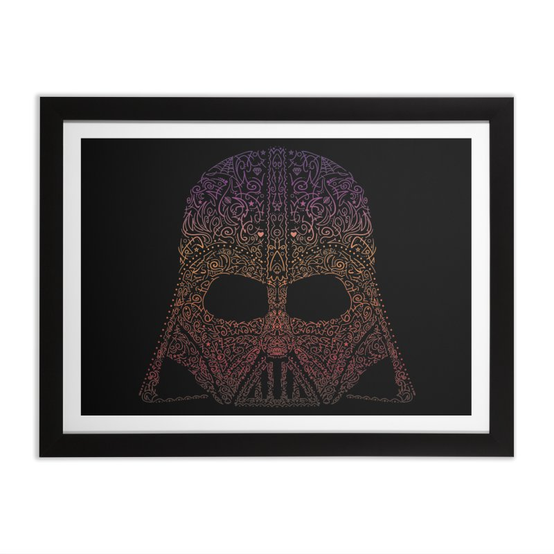 DarthNeonVader Home Framed Fine Art Print by darkchoocoolat's Artist Shop