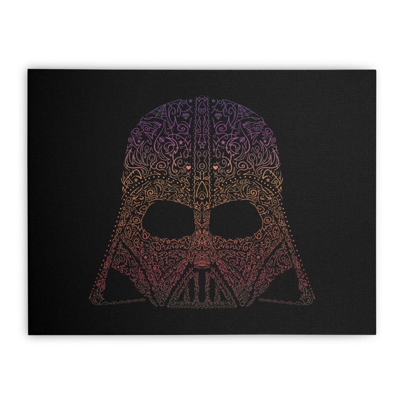 DarthNeonVader Home Stretched Canvas by darkchoocoolat's Artist Shop