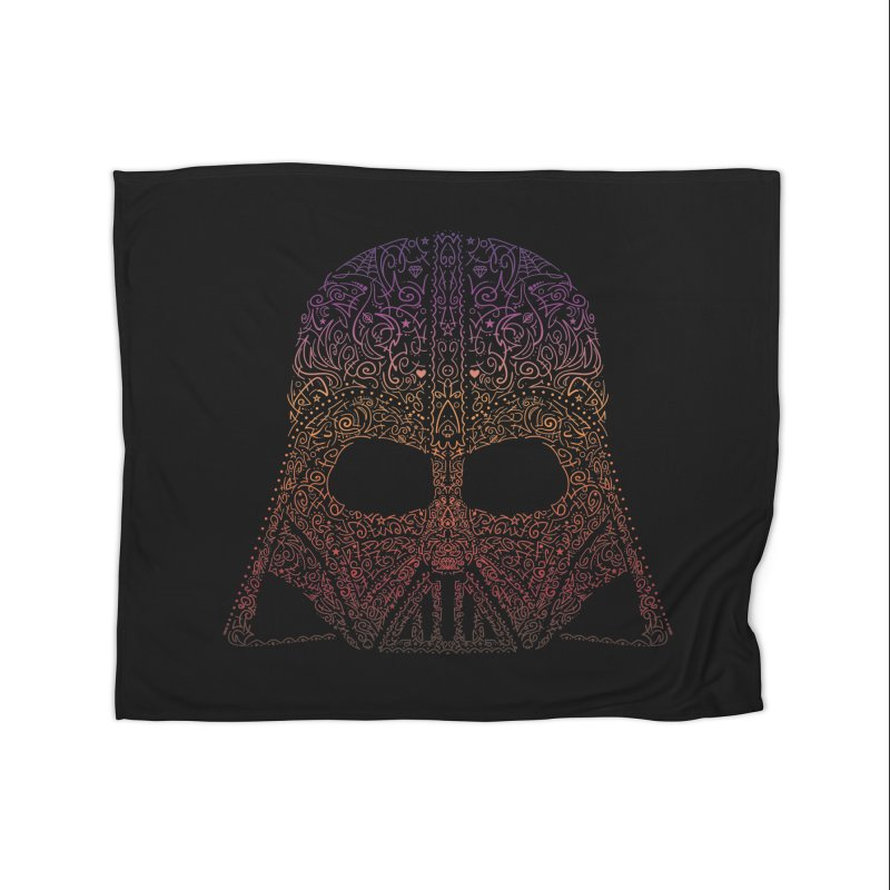DarthNeonVader Home Fleece Blanket Blanket by darkchoocoolat's Artist Shop