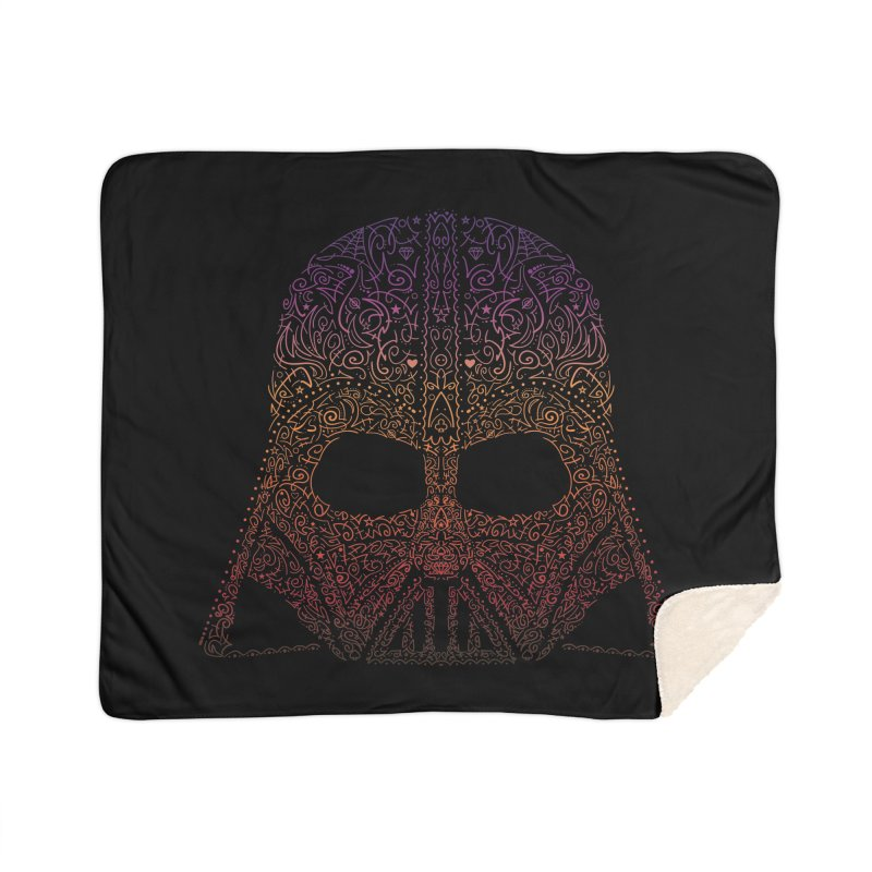 DarthNeonVader Home Sherpa Blanket Blanket by darkchoocoolat's Artist Shop