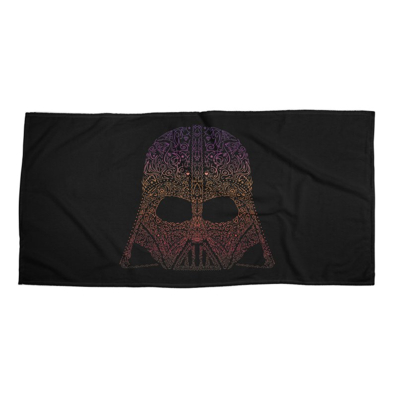 DarthNeonVader Accessories Beach Towel by darkchoocoolat's Artist Shop