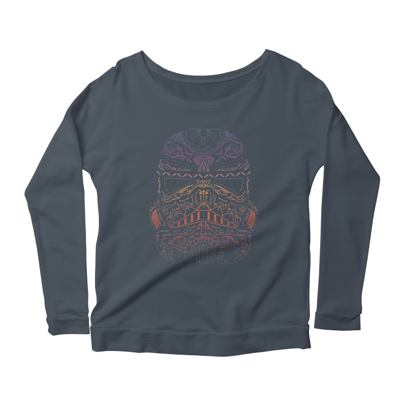 StormNeonTrooper Women's Scoop Neck Longsleeve T-Shirt by darkchoocoolat's Artist Shop