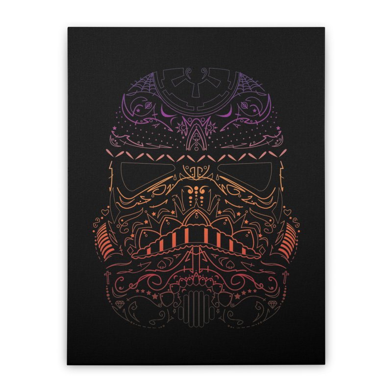 StormNeonTrooper Home Stretched Canvas by darkchoocoolat's Artist Shop