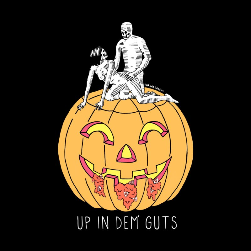 Up In Dem' Guts Men's Zip-Up Hoody by DARKER DAYS