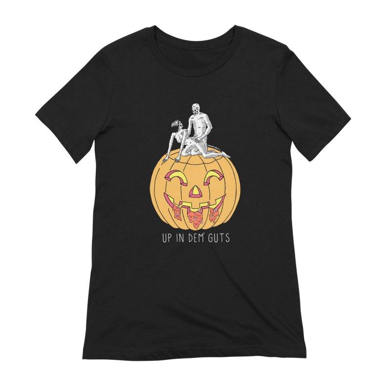 Up In Dem' Guts Women's Extra Soft T-Shirt by DARKER DAYS