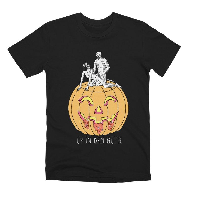Up In Dem' Guts Men's Premium T-Shirt by DARKER DAYS