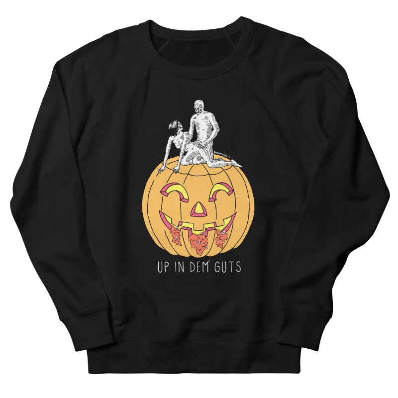 Up In Dem' Guts Men's French Terry Sweatshirt by DARKER DAYS
