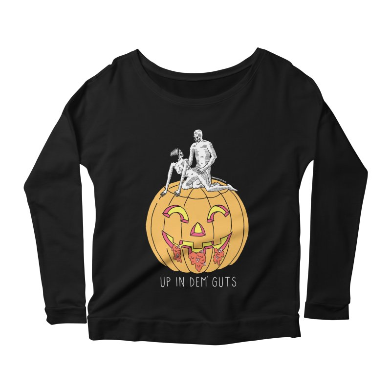 Up In Dem' Guts Women's Longsleeve T-Shirt by DARKER DAYS