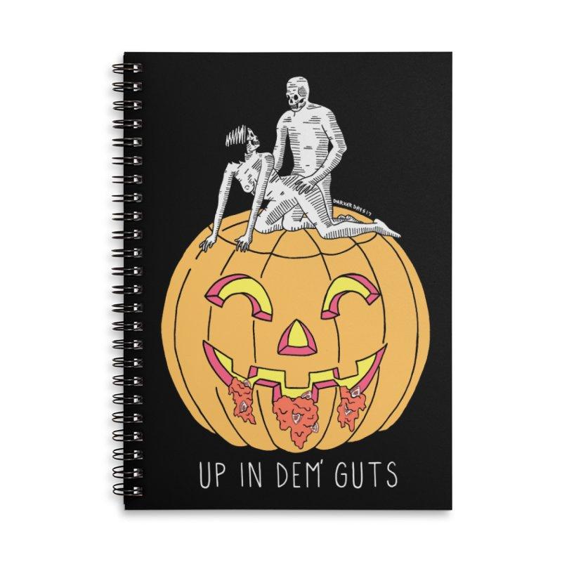 Up In Dem' Guts Accessories Lined Spiral Notebook by DARKER DAYS