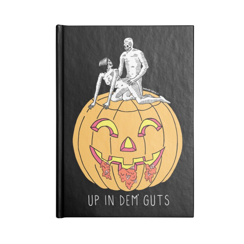 Up In Dem' Guts Accessories Lined Journal Notebook by DARKER DAYS