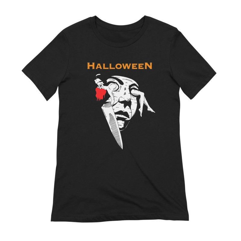 Halloween Women's Extra Soft T-Shirt by DARKER DAYS