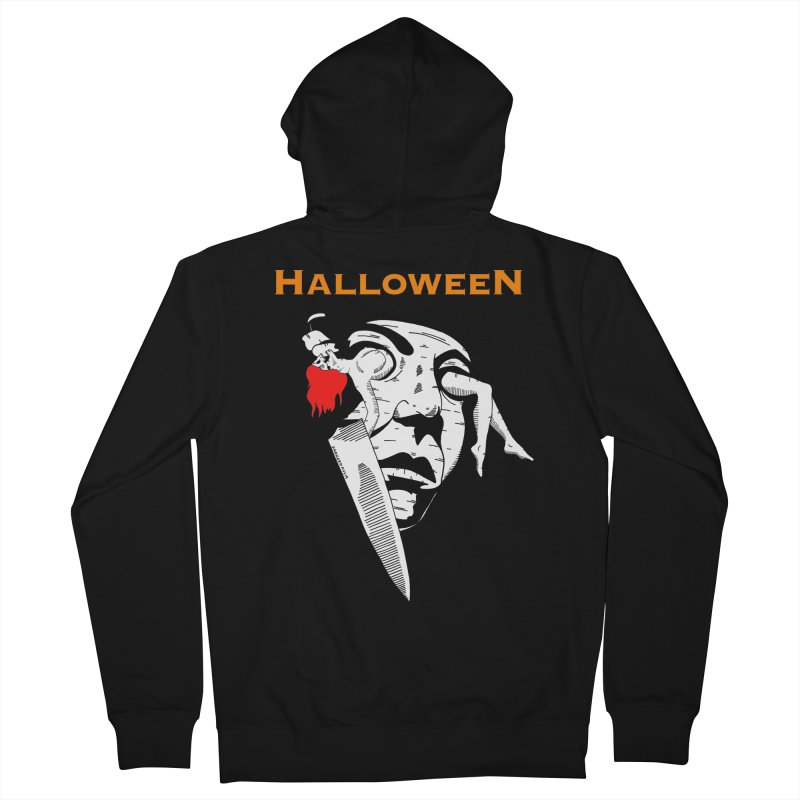 Halloween Men's French Terry Zip-Up Hoody by DARKER DAYS