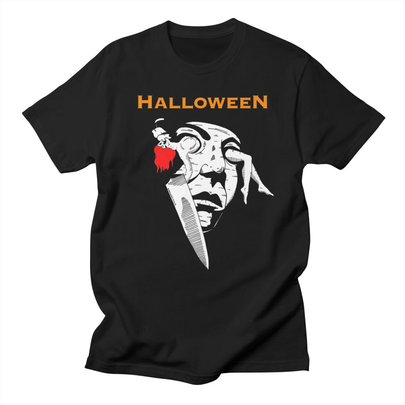 Halloween in Men's Regular T-Shirt Black by DARKER DAYS