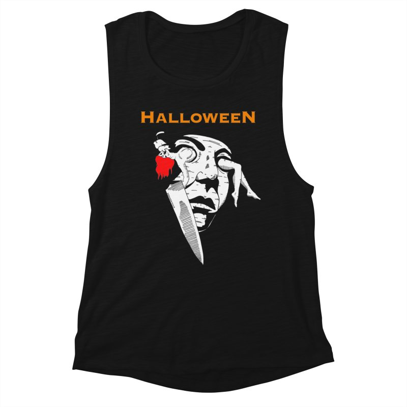 Halloween Women's Muscle Tank by DARKER DAYS