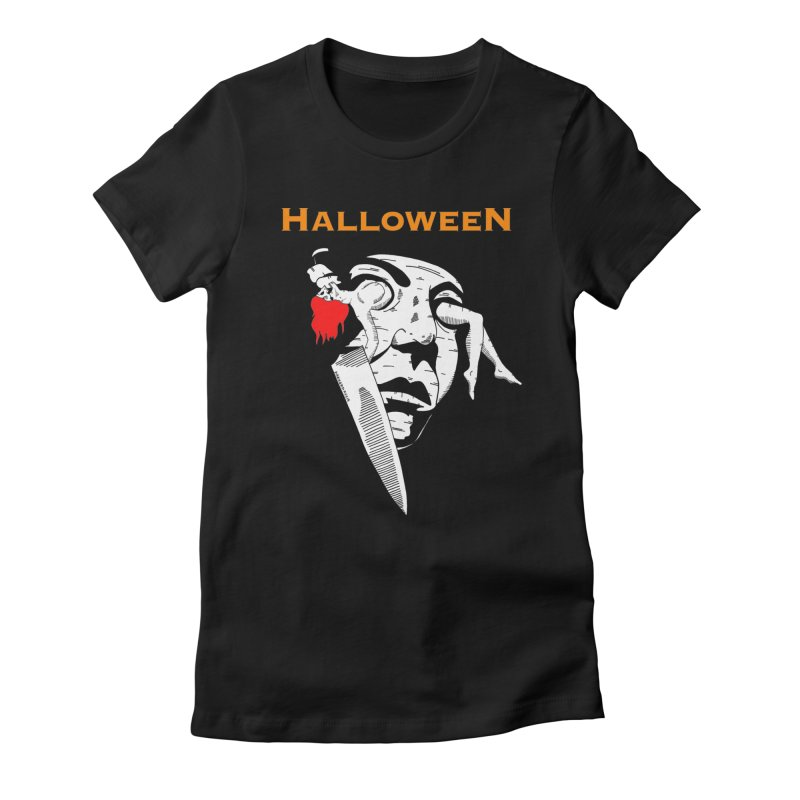 Halloween Women's Fitted T-Shirt by DARKER DAYS