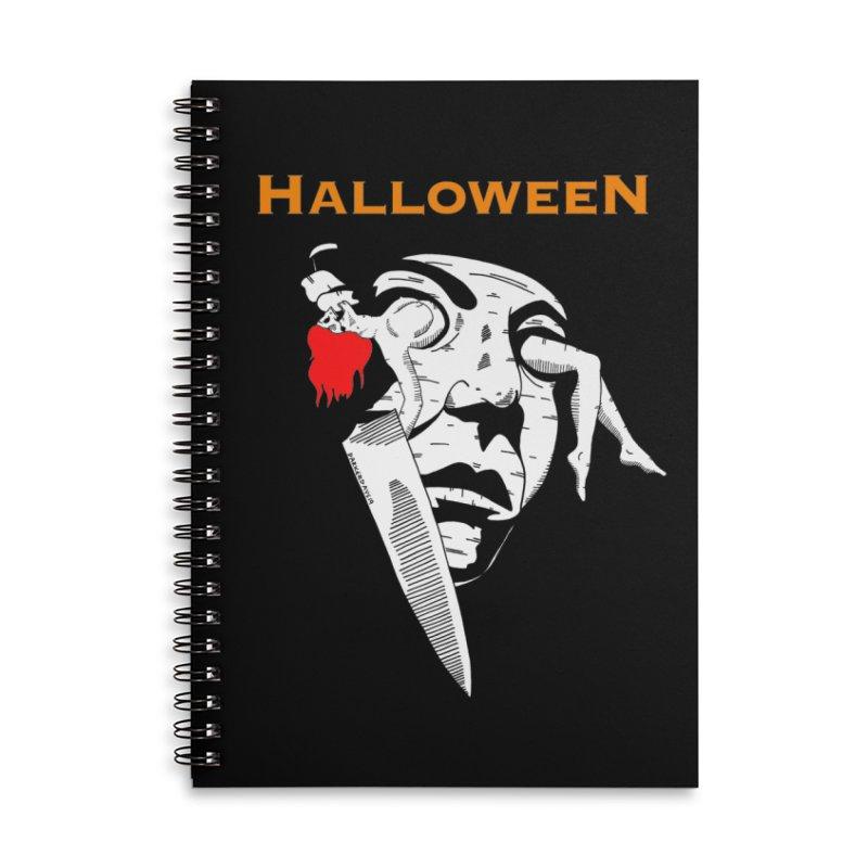 Halloween Accessories Lined Spiral Notebook by DARKER DAYS