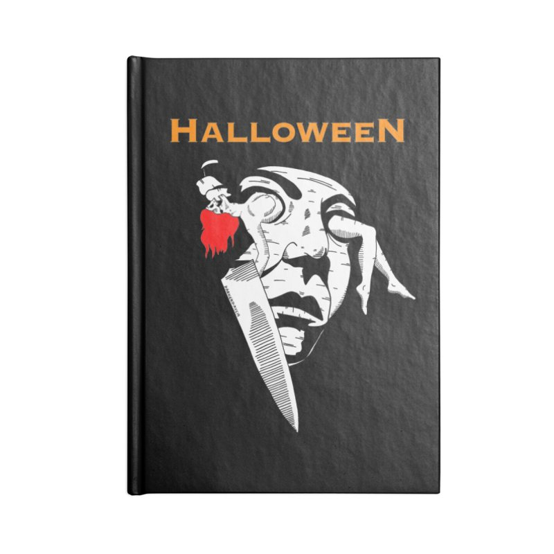 Halloween Accessories Lined Journal Notebook by DARKER DAYS
