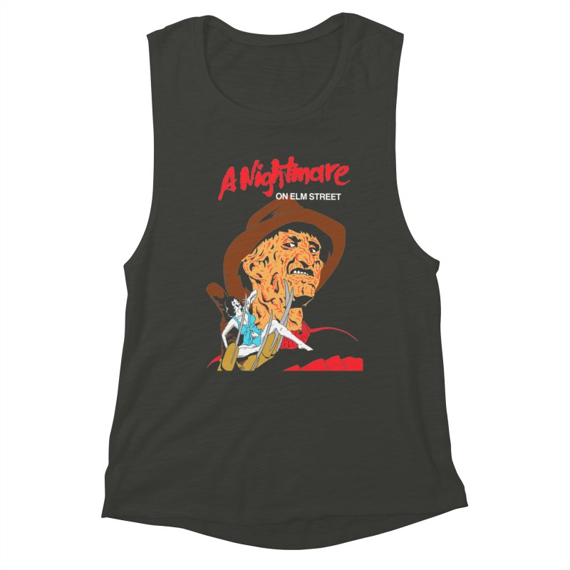 A Nightmare On Elm Street Women's Muscle Tank by DARKER DAYS