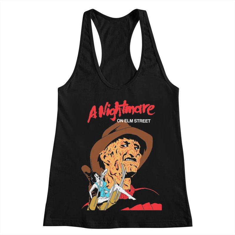 A Nightmare On Elm Street Women's Racerback Tank by DARKER DAYS