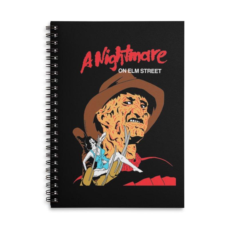 A Nightmare On Elm Street Accessories Lined Spiral Notebook by DARKER DAYS