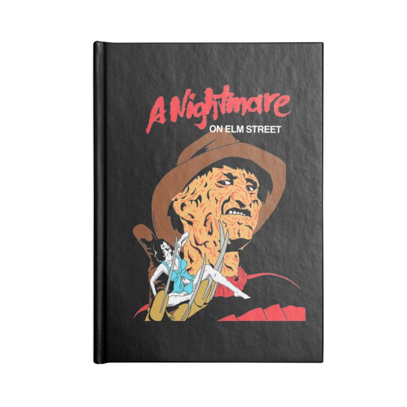 A Nightmare On Elm Street Accessories Lined Journal Notebook by DARKER DAYS