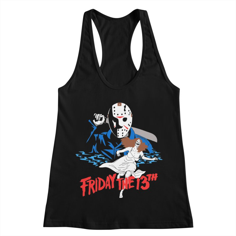 Friday The 13th Women's Racerback Tank by DARKER DAYS