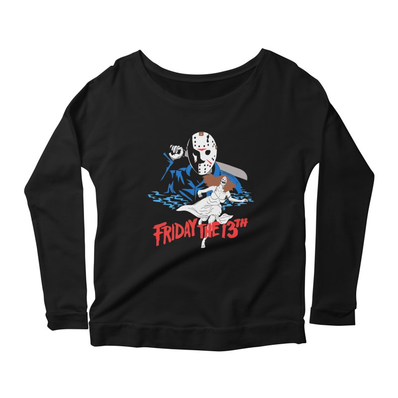 Friday The 13th Women's Scoop Neck Longsleeve T-Shirt by DARKER DAYS