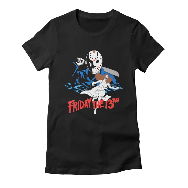 Friday The 13th Women's Fitted T-Shirt by DARKER DAYS