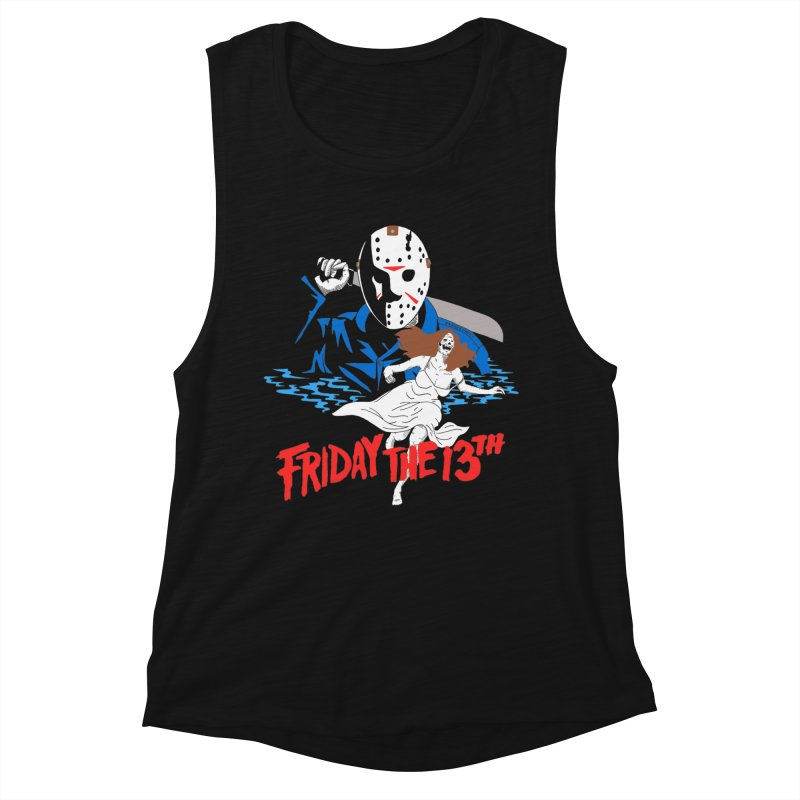 Friday The 13th Women's Muscle Tank by DARKER DAYS