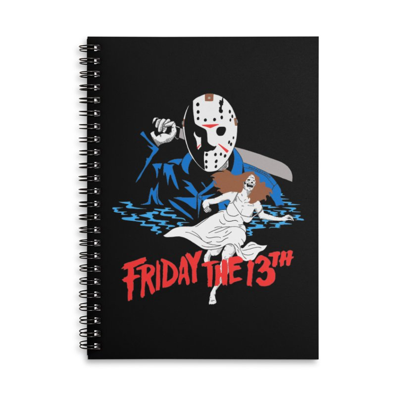 Friday The 13th Accessories Lined Spiral Notebook by DARKER DAYS