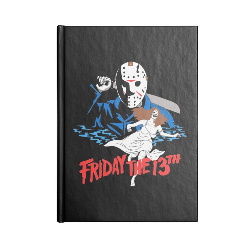 Friday The 13th Accessories Lined Journal Notebook by DARKER DAYS
