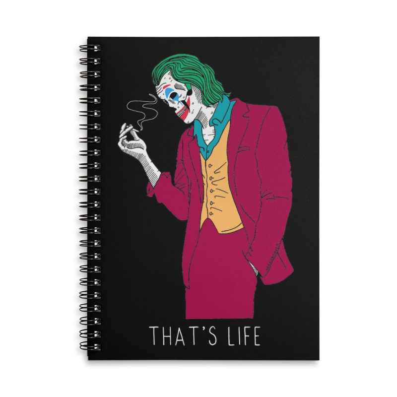 That's Life Accessories Lined Spiral Notebook by DARKER DAYS