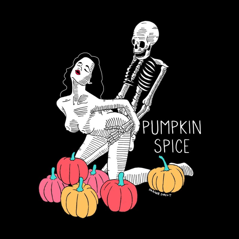 Pumpkin Spice Men's T-Shirt by DARKER DAYS
