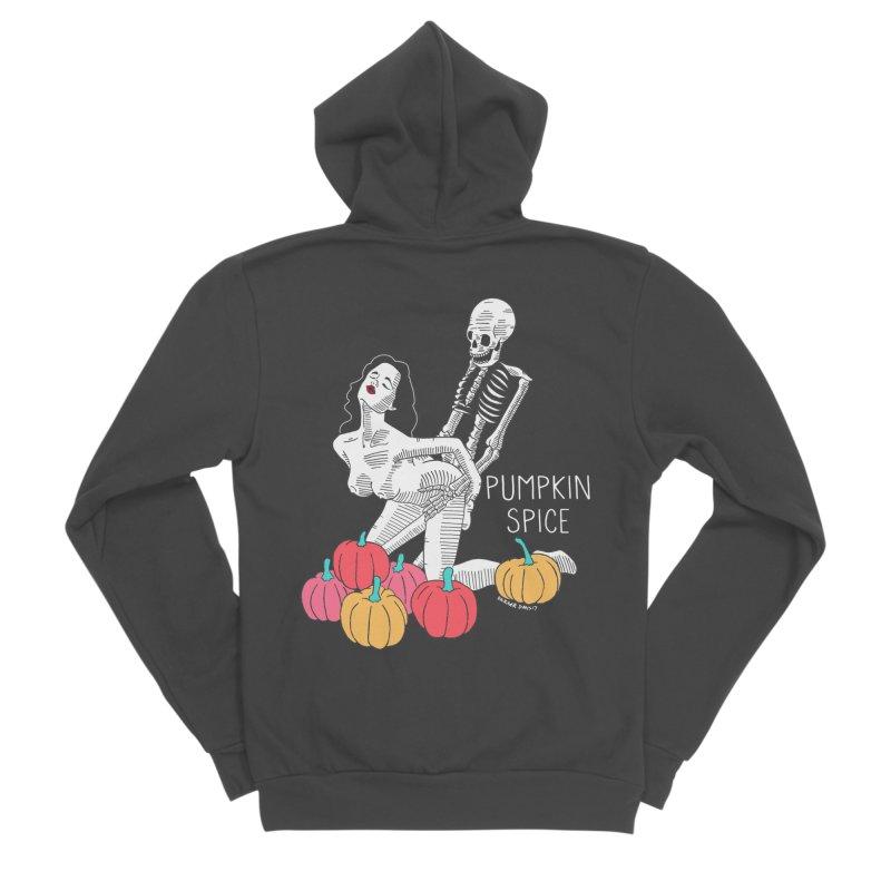 Pumpkin Spice Men's Sponge Fleece Zip-Up Hoody by DARKER DAYS