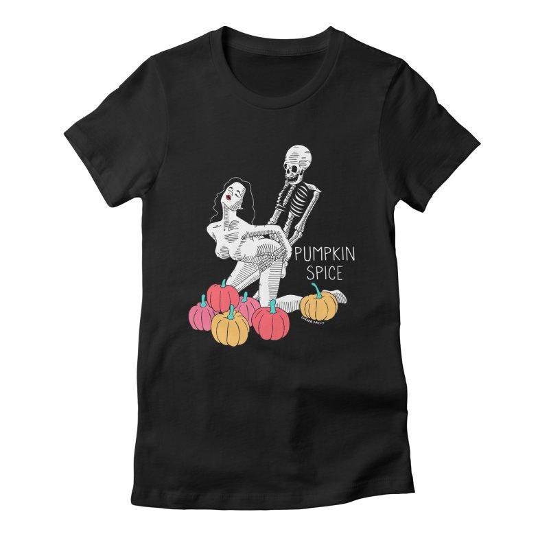 Pumpkin Spice Women's Fitted T-Shirt by DARKER DAYS