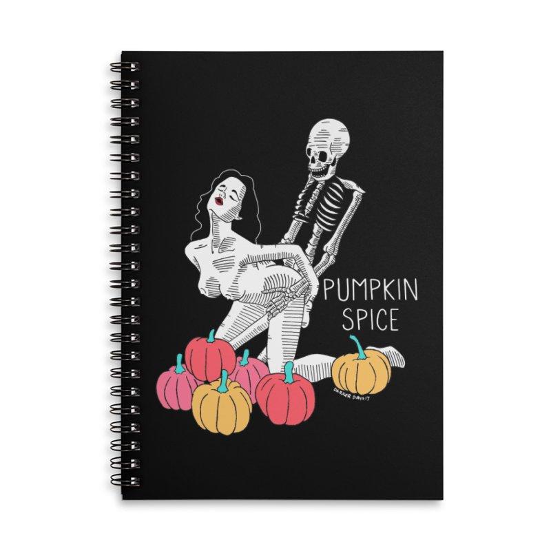 Pumpkin Spice Accessories Lined Spiral Notebook by DARKER DAYS