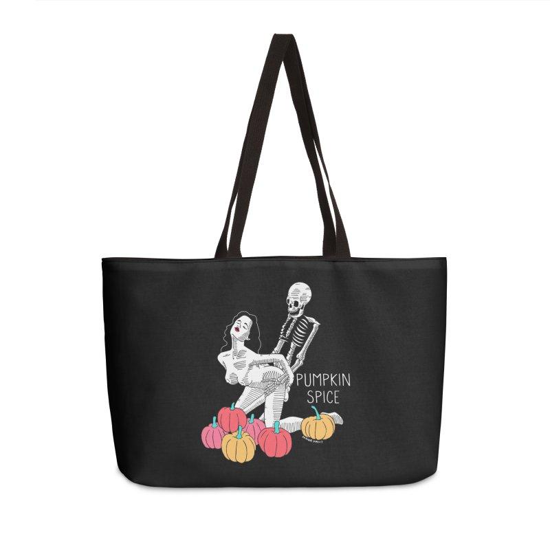 Pumpkin Spice Accessories Weekender Bag Bag by DARKER DAYS