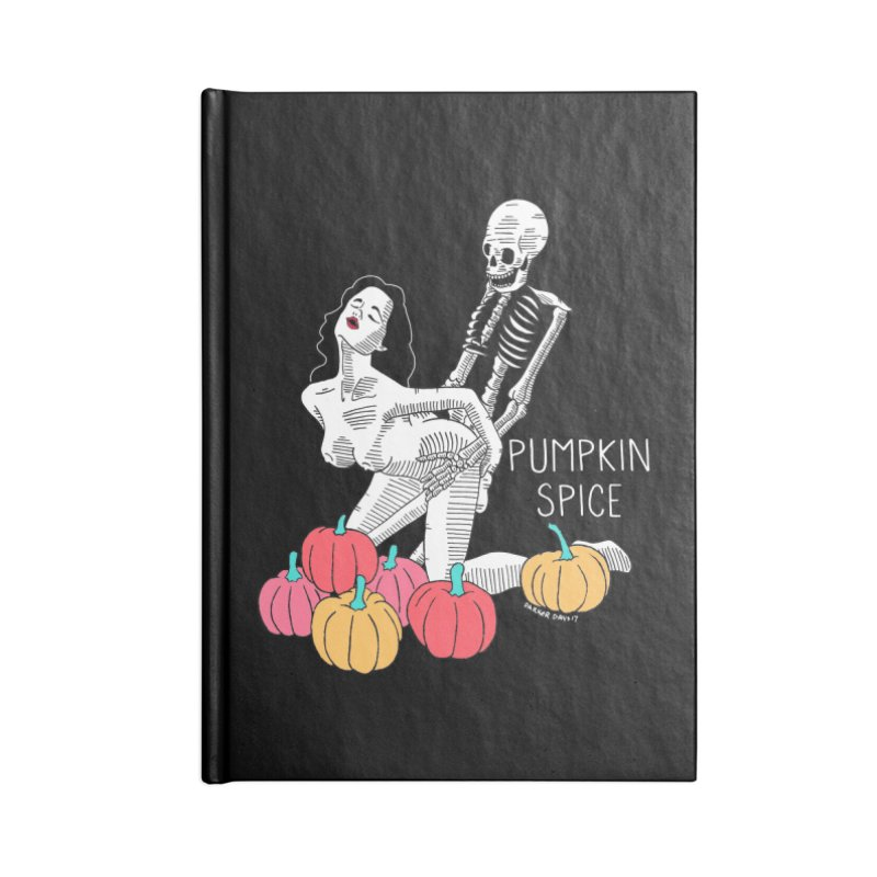 Pumpkin Spice Accessories Blank Journal Notebook by DARKER DAYS